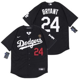 New Los Angeles Dodgers #24 Kobe Bryant Black Jersey MLB